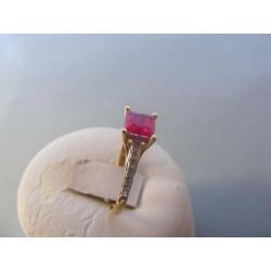 Zlatý prsteň dámsky žlté zlato zirkón VP59228Z 585/1000 14 karátov 2,28 g
