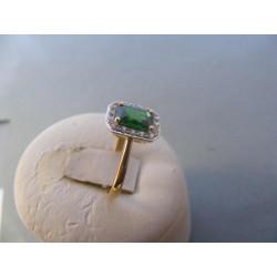 Dámsky zlatý prsteň žlté zlato zirkón VP53248Z 585/1000 14 karátov 2,48 g