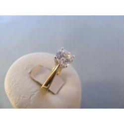 Zlatý dámsky prsteň žlté zlato zirkón VP55339Z 14 karátov 585/1000 3,39 g