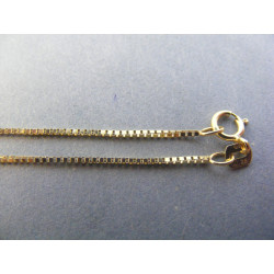 Zaujímavá dámska zlatá retiazka štvorčeková DR55244Z žlté zlato 14 karátov 585/1000 2,44 g