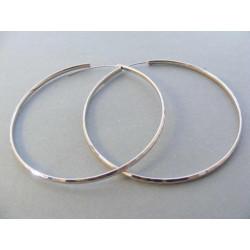 Dámske strieborné naušnice kruhy vzorované DAS870 925/1000 8,70 g