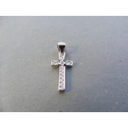 Dámsky strieborný prívesok tvar Kríž zirkón DIS053 925/1000 0,53 g