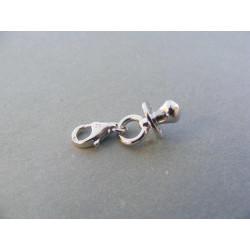 Strieborný prívesok malý cumlík DIS043 925/1000 0,43 g
