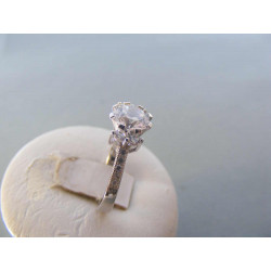 Strieborný prsteň dámsky zirkón v korunke DPS53357 925/1000 3,57 g