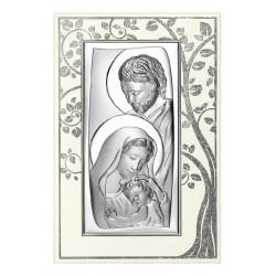 Strieborný obraz sv. rodina 6547P/5A