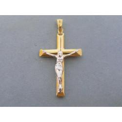 Zlatý prívesok Ježiš na kríži VI197V viacfarebné zlato 14 karátov 585/1000 1,97 g