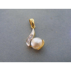 Dámsky prívesok Perla viacfarebné zlato VI169V 14 karátov 585/1000 1,69 g