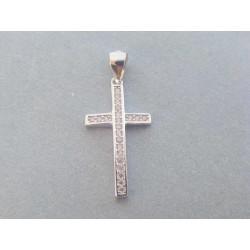 Strieborný prívesok Križ zirkóny VIS116 925/1000 1,16 g
