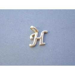 Zlatý prívesok písmenko H VI062Z žlté zlato 14 karátov 585/1000 0,62 g