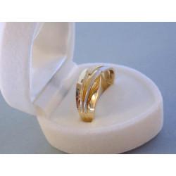 Zlatý prsteň dámsky VP56370V viacfarebné zlato 14 karátov 585/1000 3,70 g