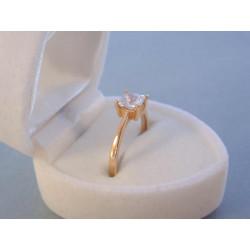 Dámsky zlatý prsteň zirkón v korunke VP50173C červené zlato 14 karátov 585/1000 1,73 g