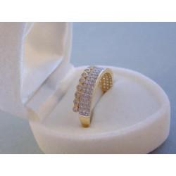 Zlatý dámsky prsteň žlté zlato zirkóny VP58217Z 14 karátov 585/1000 2,17 g