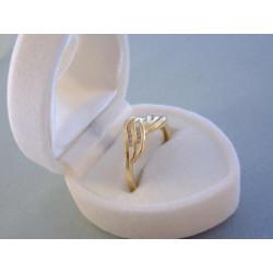 Dámsky zlatý prsteň DP54197Z žlté zlato zirkóny 14 karátov 585/1000 1,97 g