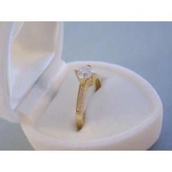 Dámsky zlatý prsteň DP50172Z žlté zlato zirkóny 14 karátov 585/1000 1,72 g