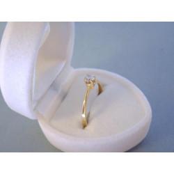 Zlatý prsteň dámsky zirkón v korunke DP54119Z žlté zlato 14 karátov 585/1000 1,19 g