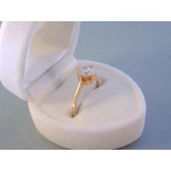 Zlatý dámsky prsteň zirkón v korunke DP50174C červené zlato 14 karátov 585/1000 1,74 g