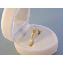 Zlatý prsteň dámsky zirkón v korunke DP53154Z  žlté zlato 14 karátov 585/1000 1,54 g