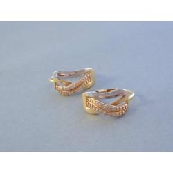 Zlaté naušnice dámske viacfarebné zlato zirkóny DA302V 14 karátov 585/1000 3,02 g