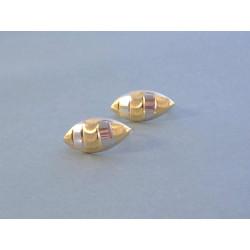 Dámske zlaté naušnice vzorované DA150V viacfarfebné zlato 14 karátov 585/1000 1,50 g
