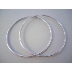 Strieborné dámske naušnice kruhy zaujímavý vzor VAS749 925/1000 7,49 g