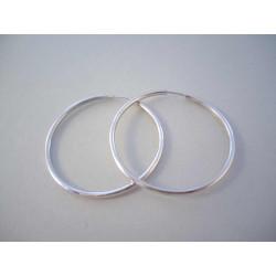 Dámske strieborné naušnice kruhy hladké VAS530 925/1000 5,30 g