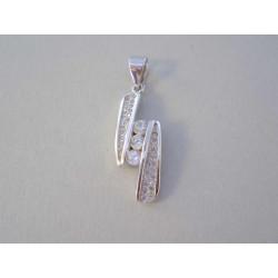 Zaujímavý dámsky strieborný prívesok zirkóny VIS244 925/1000 2,44 g