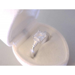 Strieborný prsteň dámsky číre zirkóny VPS59279 925/1000 2,79 g