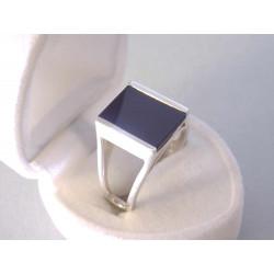 Pánsky strieborný prsteň čierny ONYX VPS60724 925/1000 7,24 g
