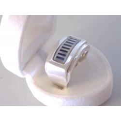 Výrazný pánsky strieborný prsteň zdobený ONYX VPS611184 925/1000 11.84 g