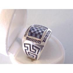 Pánsky strieborný výrazný prsteň zaujímavý vzhľad ONYX VPS631057 925/1000 10,57 g
