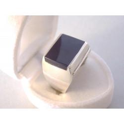 Strieborný pánsky prsteň čierny ONYX VPS60885 925/1000 8,85 g