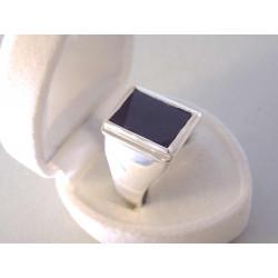 Strieborný prsteň pánsky ONYX VPS62881 925/1000 8,81 g