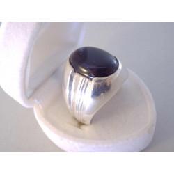 Pánsky strieborný prsteň čierny ONYX VPS63962 925/1000 9,62 g