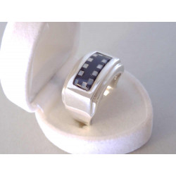 Strieborný pánsky prsteň ONYX zaujímavý vzhľad VPS641179 925/1000 11,79 g