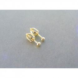 Zlaté naušnice šrubovačky UNISEX DA075Z 14 karátov 585/1000 0,75 g