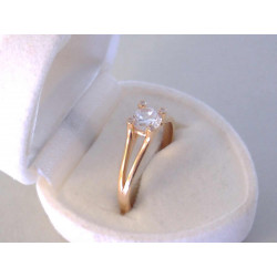 Zlatý dámsky prsteň červené zlato zirkóny VP56275C 14 karátov 585/1000 2,75 g