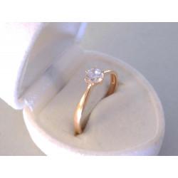 Dámsky zlatý prsteň červené zlato zirkón VP61204C 14 karátov 585/1000 2,04 g