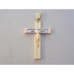 Zlatý prívesok Ježiš na kríži VI452V viacfarebné zlato 14 karátov 585/1000 4,52 g