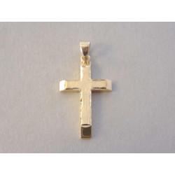 Zlatý prívesok tvar Kríž žlté zlato VI168Z 14 karátov 585/1000 1,68 g
