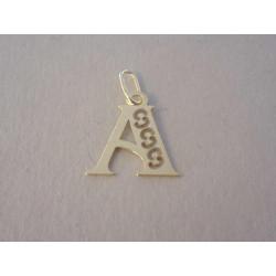 Zlatý prívesok písmeno A  DI027Z 14 karátov 585/1000 0,27 g