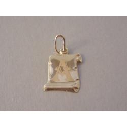 Zlatý prívesok písmenko A na pergamone VI044Z 14 karátov 585/1000 0,44 g
