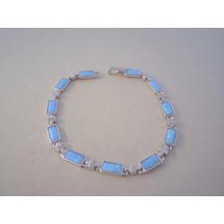 Dámsky strieborný náramok modrý opál,zirkóny VNS19980 925/1000 9,80 g