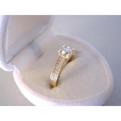 Dámsky zlatý prsteň zirkóny VP54165Z 14 karátov 585/1000 1,65 g