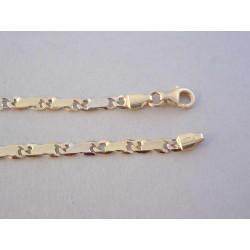 Zlatá pánska retiazka veľké ploché očká viacfarebné zlato VR551370Z 14 karátov 585/1000 13,70 g
