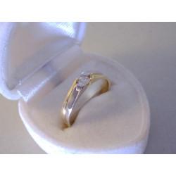 Zlatý dámsky prsteň viacfarebné zlato zirkón VP596266V 14 karátov 585/1000 2,66 g