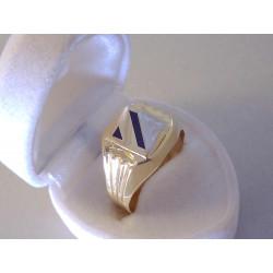 Výrazný pánsky zlatý prsteň zaujímavý vzorovaný vzhľad VP65336V viacfarebné zlato 585/1000 14 karátov  3,36 g