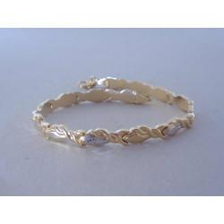 Zlatý dámsky náramok zaujímavo vzorovaný viacfarebné zlato VN205447 14 karátov 585/1000 5,44 g
