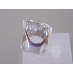 Zaujímavý dámsky strieborný prsteň špecifický vzhľad VPS56667 925/1000 6,67 g