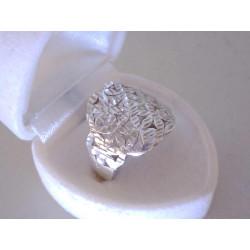Strieborný prsteň dámsky vzorovaný kvetinový vzhľad VPS57374 925/1000 3,74 g