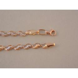 Zlatá dámska retiazka zaujímave očká viacfarebné zlato VR445481V 14 karátov 585/1000 4,81 g